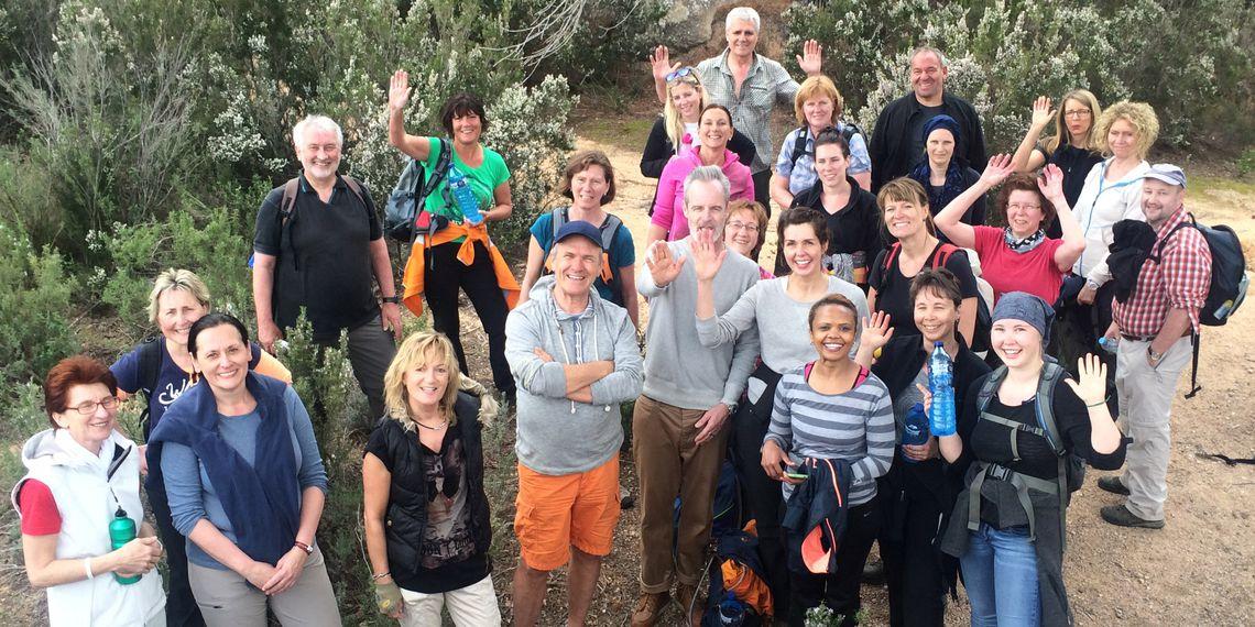 Fastenwandern Gruppe in St. Feliu
