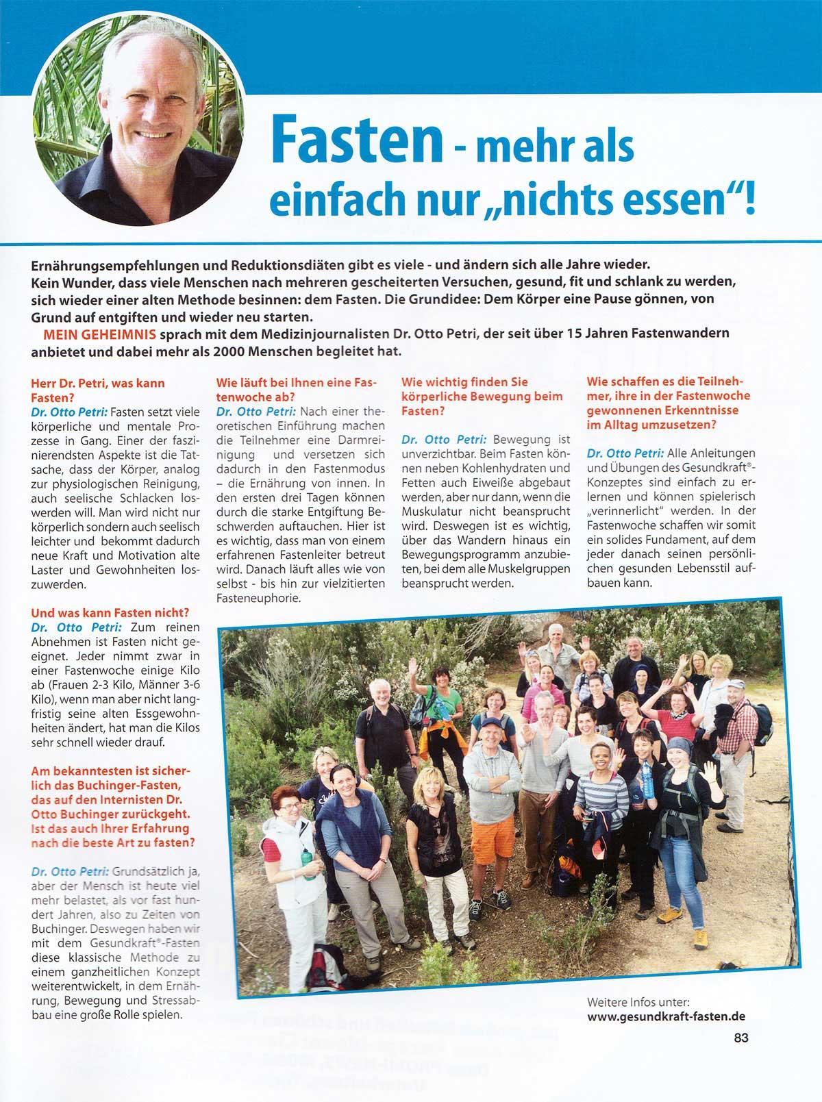 Fasten-Interview mit Dr. Otto Petri